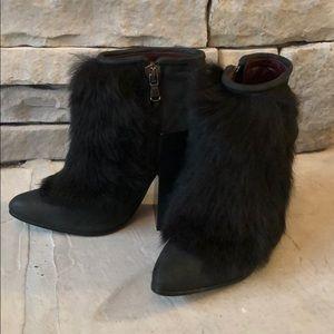 Acne fur booties